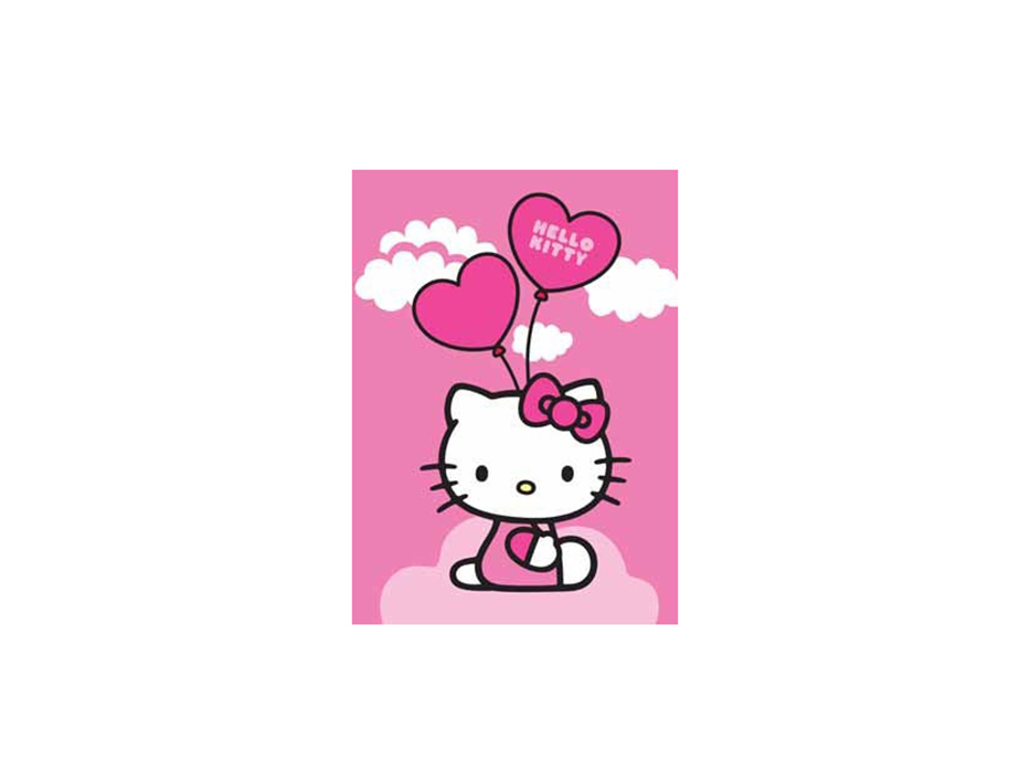 KIDS Matta 95x133 Ballong Hello Kitty